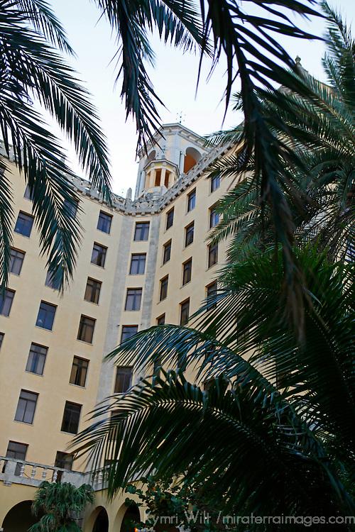 Central America, Cuba, Havana. Hotel Nacional de Cuba, an iconic landmark in Havana.