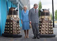 JULY 03 2013 The Prince of Wales & The Duchess of Cornwall visit Doctor Who set