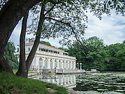 The Beaux Arts Boathouse in Brooklyn's Prospect Park, completed in 1905, now houses the Audubon Center. The Boathouse, designed by Helmle and Huberty, is on the National Register of Historic Places.