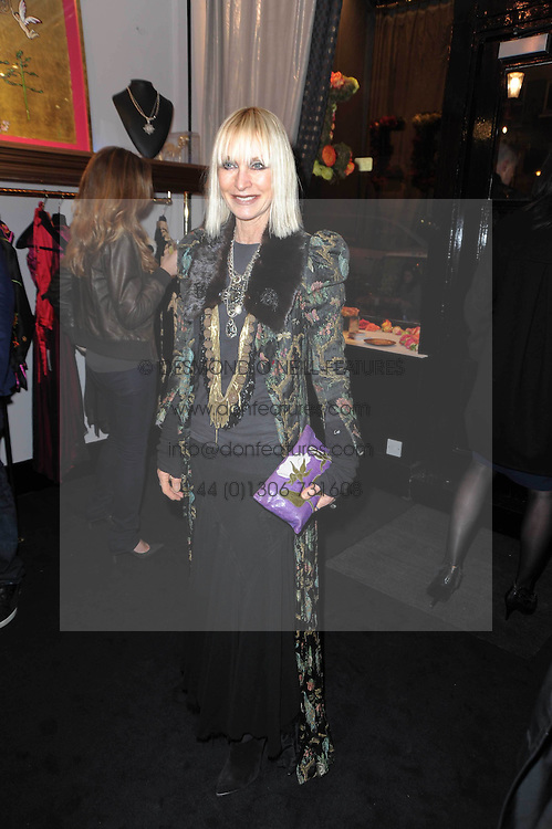 VIRGINIA BATES at the opening of Jade Jagger's shop at 43 All Saints Road, London W11 on 25th November 2009.