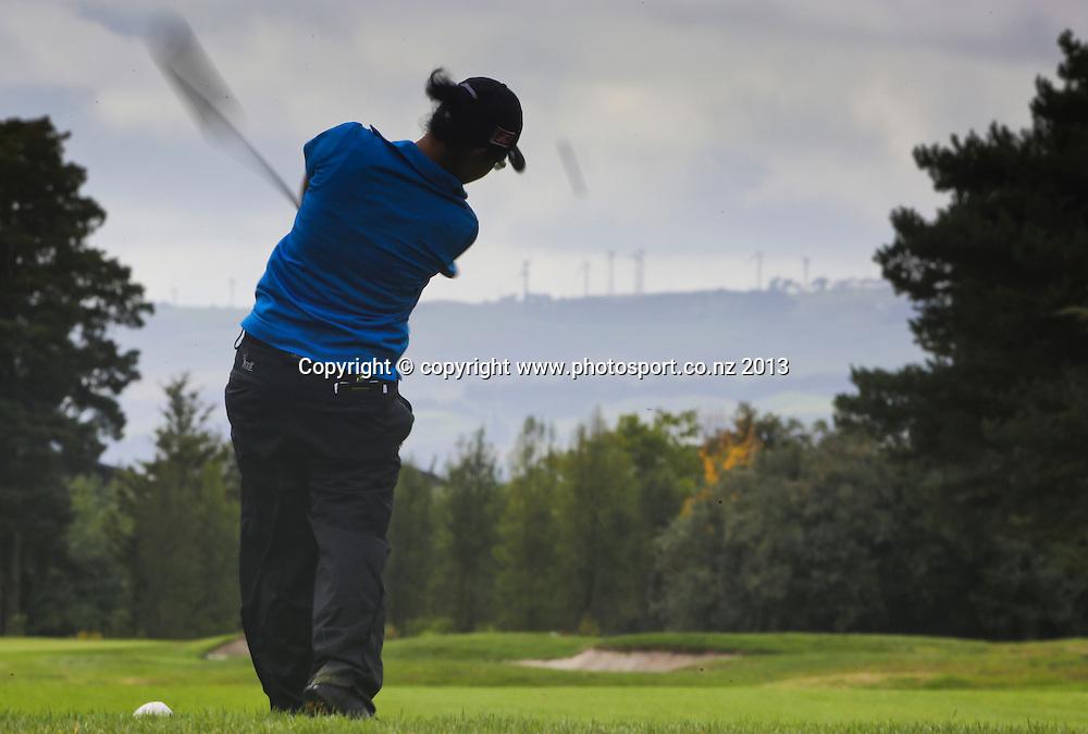 Julianne Alvarez on the final day of the 2013 New Zealand Amateur Championship, Manawatu Golf Club, Palmerston North, New Zealand. Sunday 26 April 2013. Photo: John Cowpland / photosport.co.nz