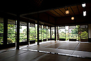 Photo shows  the first floor reception room of the main building of the Honma Museum of Art in Sakata, Yamagata Prefecture, Japan, on July 06, 2012. Construction of the  reception room was started around 200 years ago. Photographer: Robert Gilhooly