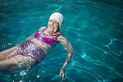 Agnes Marshall 98 in the family swimming pool of her home in Currumbin Queensland. (her number is 0755939901)