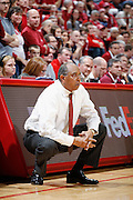 BLOOMINGTON, IN - JANUARY 12: Minnesota Golden Gophers head basketball coach Tubby Smith looks on during the game against the Indiana Hoosiers at Assembly Hall on January 12, 2012 in Bloomington, Indiana. Minnesota defeated Indiana 77-74. (Photo by Joe Robbins)