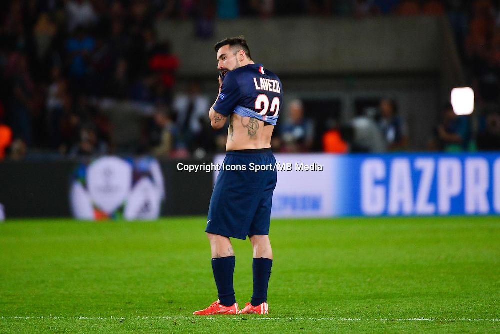 Deception Ezequiel LAVEZZI - 15.04.2015 - Paris Saint Germain / Barcelone - 1/4Finale Aller Champions League<br />Photo : Dave Winter / Icon Sport