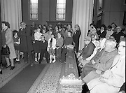 Princess Grace Requiem.1982.23.09.1982..09.23.1982.23rd September 1982.A requiem mass was held at the Pro Cathederal, Marlborough Street, Dublin ,for the repose of the soul of Her Majesty Princess Grace of Monaco..The mass was celebrated by The Papal Nuncio Most Rev.,Dr., Alabrandi. The homily was read by Monsignor John Moloney, P.P.Rathgar, Dublin. Lord Kilannin , Honorary Consol General of Monaco read a lesson at the mass. The Archbishop of Dublin Most Rev., Dr., Ryan and his auxiliary bishops were also taking part. Among the attendees were The Taoiseach, Mr Charles Haughey and his wife Maureen, former Taoisaigh Mr Jack Lynch and Mr Liam Cosgrave..The Diplomatic Corps were also represented..The congregation listen to the homily, children were well represented..