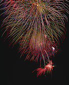 02375 Fireworks Tucson Arizona AZ burst explode color night 4th of July holiday celebrate