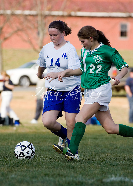MCHS JV Girls Soccer .vs Greene .April 3, 2006