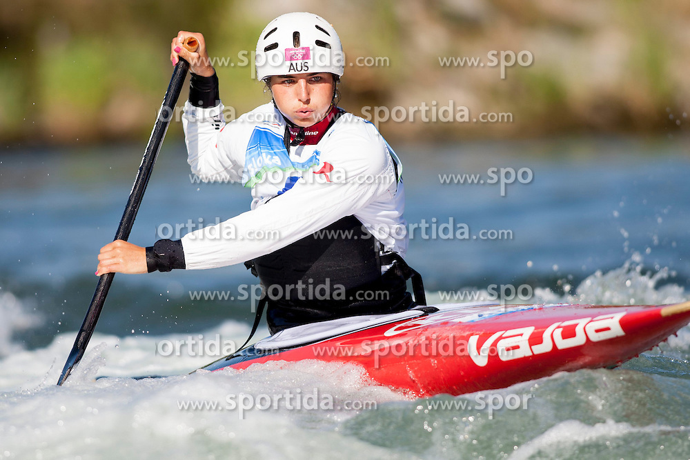 17.08.2013, Tacen, Ljubljana, SLO, ICF Kanuslalom Weltcup, im Bild Jessica Fox of Australia // during Canoe(C1) Women qualifications race during the ICF Canoe Slalom World Cup at Tacen, Ljubljana, Slovenia on 2013/08/17. EXPA Pictures &copy; 2013, PhotoCredit: EXPA/ Sportida/ Urban Urbanc<br /> <br /> ***** ATTENTION - OUT OF SLO *****