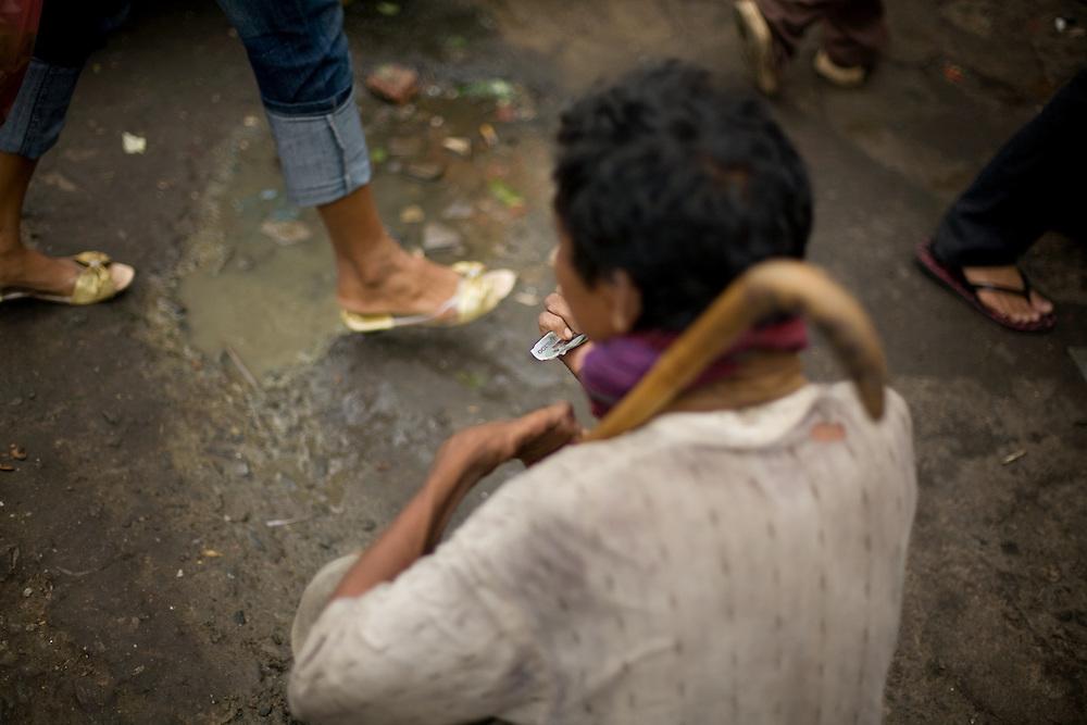 beggar in the streets of Phnom Penh