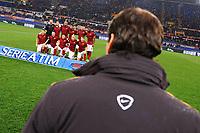 Rudi Garcia osserva la formazione della Roma. As Roma team line up, Rudi Garcia <br /> Roma 31-01-2015 Stadio Olimpico, Football Calcio Serie A AS Roma - Empoli. Foto Andrea Staccioli / Insidefoto