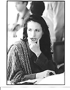 Andie Macdowell, Cannes film festival. 1997© Copyright Photograph by Dafydd Jones 66 Stockwell Park Rd. London SW9 0DA Tel 020 7733 0108 www.dafjones.com<br />