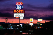 """Arizona, Historic Route 66 in Seligman. """"THE Mother Road."""".also called """"Main Street of America"""" These United States Book page 143"""