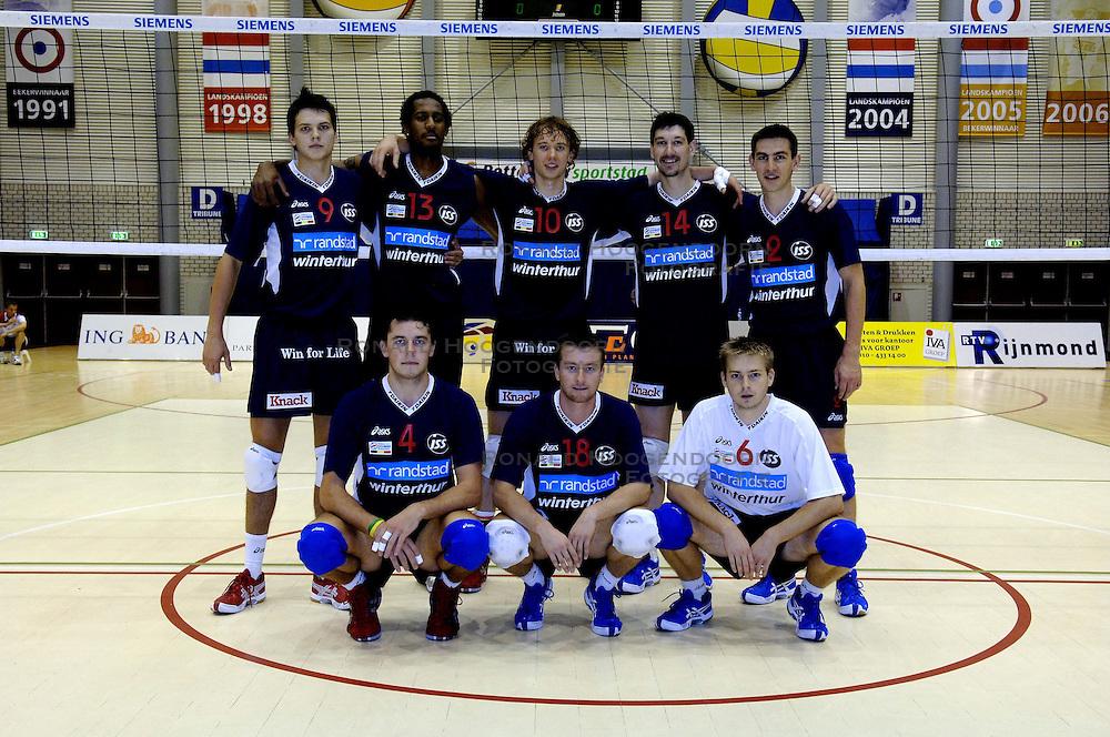 10-09-2006 VOLLEYBAL: ORTEC NESSELANDE - KNACK ROESELARE: ROTTERDAM<br /> Op de teampresentatie middag speelde Nesselande een oefenwedstrijd tegen Roeselare en won met 3-2 / Knack Randstad Roeselare met oa Ivan Marquez, Nico Freriks, Wouter Verhelst en Benjamin Hardy<br /> &copy;2006-WWW.FOTOHOOGENDOORN.NL