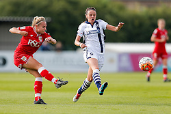 Charlie Estcourt of Bristol City Women shoots - Mandatory byline: Rogan Thomson/JMP - 09/07/2016 - FOOTBALL - Stoke Gifford Stadium - Bristol, England - Bristol City Women v Milwall Lionesses - FA Women's Super League 2.