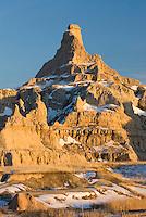 Eroded formations in Badlands National Park South Dakota SA
