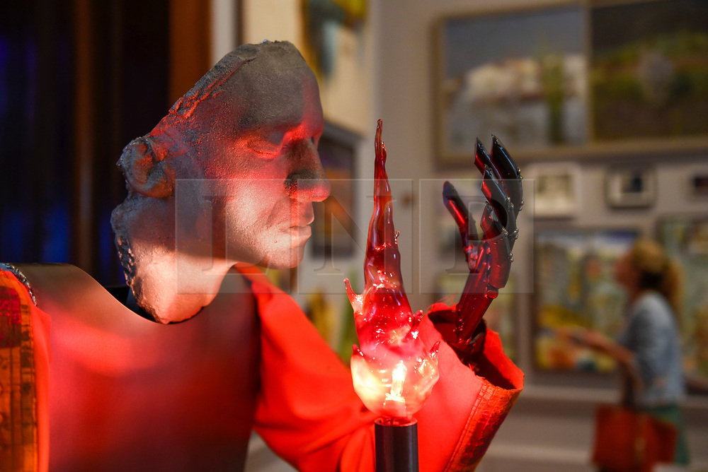 """© Licensed to London News Pictures. 08/06/2017. London, UK. A scuplture called """"The Unbeliever"""" by Kira Freije (GBP3,500).  Preview of the Summer Exhibition 2017 at the Royal Academy of Arts in Piccadilly.  Co-ordinated by Royal Academician Eileen Cooper, the 249th Summer Exhibition is the world's largest open submission exhibition with around 1,100 works on display by high profile and up and coming artists.<br />  Photo credit : Stephen Chung/LNP"""