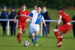 BLACKBURN, ENGLAND - Saturday, January 6, 2018: Blackburn Rovers' Matty Chan during an Under-18 FA Premier League match between Blackburn Rovers FC and Liverpool FC at Brockhall Village Training Ground. (Pic by David Rawcliffe/Propaganda)