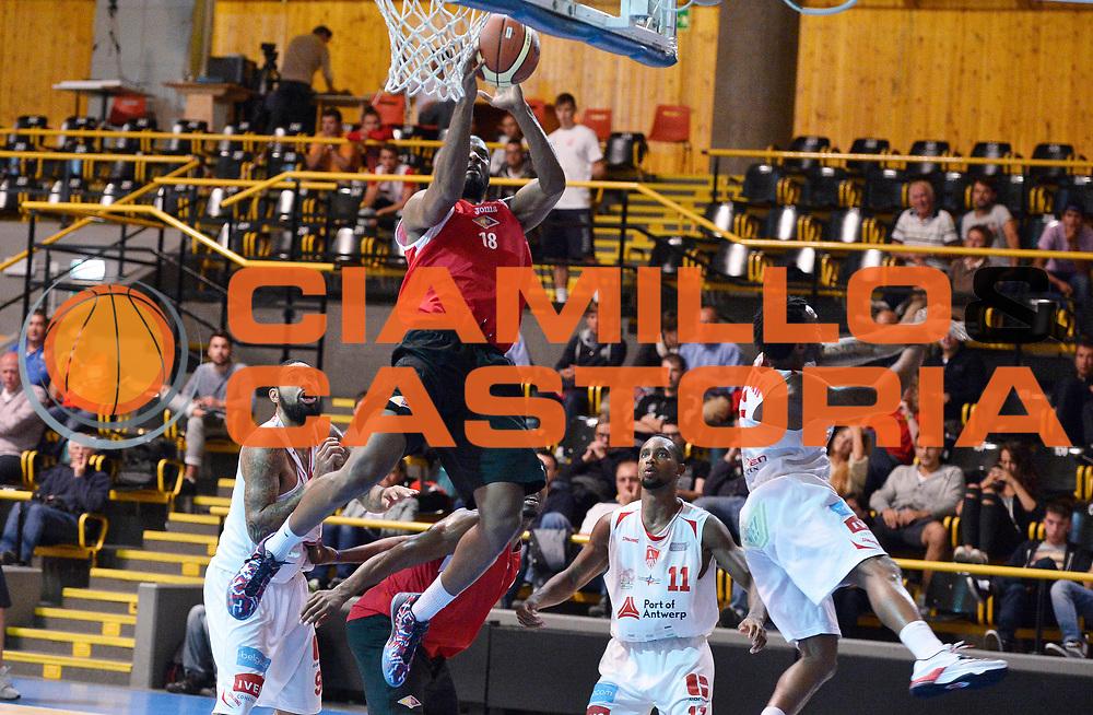 DESCRIZIONE : Bormio Lega A 2014-15 amichevole Acea Virtus Roma - Antwerp Giants Anversa<br /> GIOCATORE : Kyle Gibson<br /> CATEGORIA : tiro penetrazione<br /> SQUADRA : Acea Virtus Roma<br /> EVENTO : Valtellina Basket Circuit 2014<br /> GARA : Acea Virtus Roma - Antwerp Giants Anversa<br /> DATA : 09/09/2014<br /> SPORT : Pallacanestro <br /> AUTORE : Agenzia Ciamillo-Castoria/R.Morgano<br /> Galleria : Lega Basket A 2014-2015  <br /> Fotonotizia : Bormio Lega A 2014-15 amichevole Acea Virtus Roma - Antwerp Giants Anversa<br /> Predefinita :