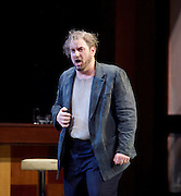 Rigoletto <br /> by Verdi <br /> English National Opera at the London Coliseum, London, Great Britain <br /> rehearsal <br /> 31st January 2017 <br /> <br /> <br /> <br /> Nicholas Pallesan as Rigoletto <br /> <br /> <br /> <br /> Photograph by Elliott Franks <br /> Image licensed to Elliott Franks Photography Services