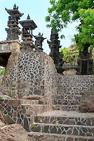The steps leading up to the Polaki temple in Bali, Indonesia.