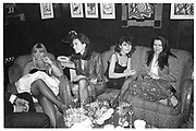 IVANA LOWELL; JULIET HOHNEN, Preview party, Regine's. Berkeley St. London. 3 March 1987, <br /> <br /> SUPPLIED FOR ONE-TIME USE ONLY> DO NOT ARCHIVE. © Copyright Photograph by Dafydd Jones 248 Clapham Rd.  London SW90PZ Tel 020 7820 0771 www.dafjones.com