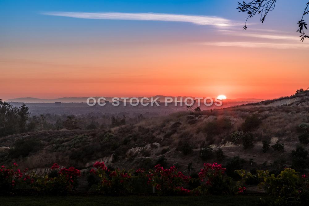 Sunset Over Irvine Skyline