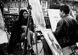UK ENGLAND LONDON MAY96 - Street artists perform in London's West End during the spring season. ..jre/Photo by Jiri Rezac..© Jiri Rezac 1996..Contact: +44 (0) 7050 110 417.Mobile:  +44 (0) 7801 337 683.Office:  +44 (0) 20 8968 9635..Email:   jiri@jirirezac.com.Web:     www.jirirezac.com..© All images Jiri Rezac 1996 - All rights reserved.