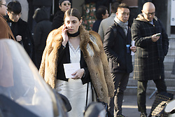 Fashionista arriving at the Lanvin Autumn / Winter 2017 Paris Men Fashion Week  show at Palais de Tokyo, Paris on Sunday January 22, 2017.