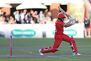 Lancashires Steven Croft during the Vitality T20 Blast North Group match between Lancashire Lightning and Birmingham Bears at the Emirates, Old Trafford, Manchester, United Kingdom on 10 August 2018.