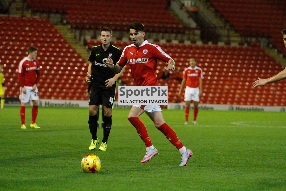 Adam Hammill during Barnsley v York City, Johnstone's Paint Trophy Area Quarter Final, Tuesday 10 November 2015, Oakwell