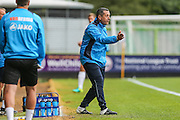 Neil Smith Manager of Bromley gives instructions during the Vanarama National League match between Forest Green Rovers and Bromley FC at the New Lawn, Forest Green, United Kingdom on 17 September 2016. Photo by Shane Healey.