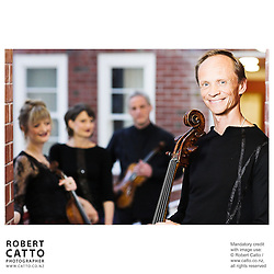 Gillian Ansell;Helene Pohl;Douglas Beilman;Rolf Gjelsten (New Zealand String Quartet)  at Victoria University, Wellington, New Zealand.