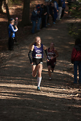 New England High School XC Championship, Bethanie Brown, Waterville, leads
