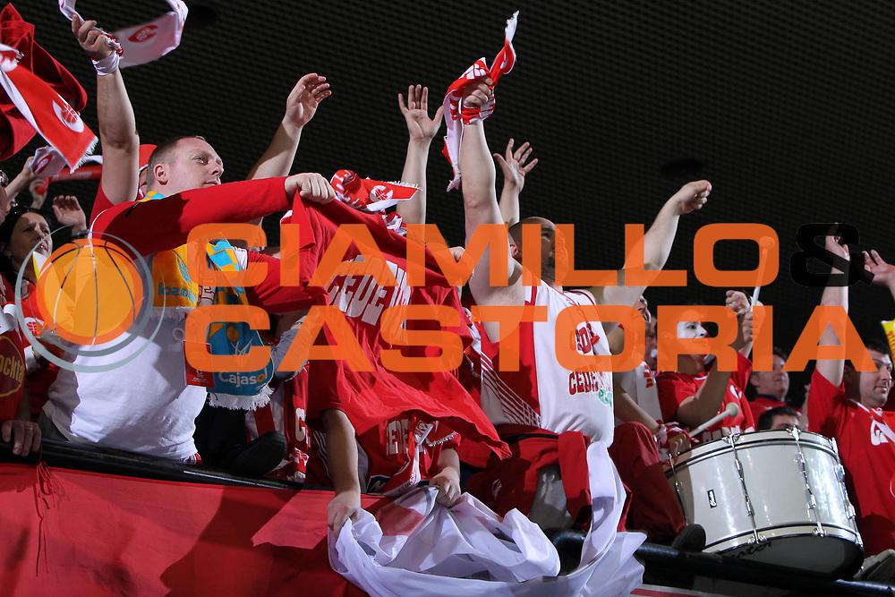 DESCRIZIONE : Treviso Eurocup Finals 2010-11 3rd-4th Place 3-4 posto Benetton BWin Treviso Cedevita Zagabria Zagreb <br /> GIOCATORE : Tifosi Cedevita Zagabria Zagreb<br /> SQUADRA : Cedevita Zagabria Zagreb<br /> EVENTO : <br /> GARA : Benetton BWin Treviso Cedevita Zagabria Zagreb <br /> DATA : 17/04/2011 <br /> CATEGORIA : Tifosi<br /> SPORT : Pallacanestro <br /> AUTORE : Agenzia Ciamillo-Castoria/G. Contessa<br /> GALLERIA: Eurocup 2011 -2011 <br /> FOTONOTIZIA: Treviso Eurocup Finals 2010-11 3rd-4th Place 3-4 posto Benetton BWin Treviso Cedevita Zagabria Zagreb <br /> PREDEFINITA: