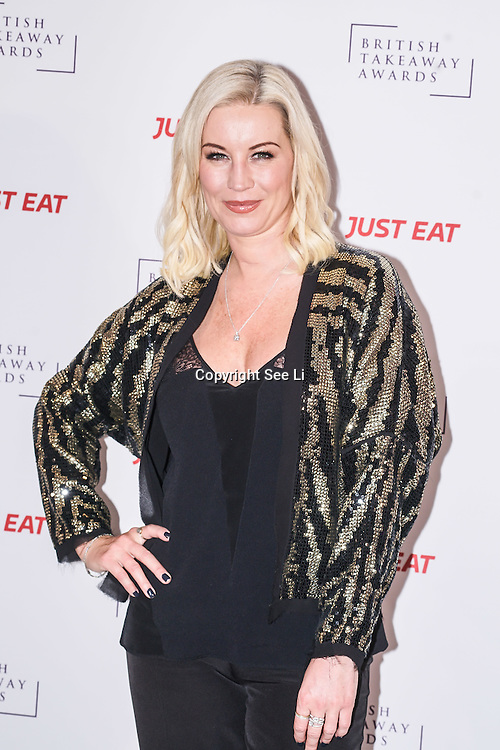 Denise Van Outen attends The British Takeaway Awards 2016, Monday 5th December at The Savoy in London,,UK. Photo by See Li