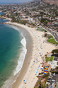 Vertical Aerial Stock Photo of Laguna Beach Coastline Facing North