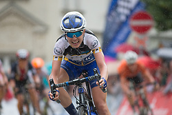 Tayler Wiles (USA) of UnitedHealthcare Cycling Team wins Stage 5 of the Lotto Thuringen Ladies Tour - a 108.3 km road race, starting and finishing in Greiz on July 17, 2017, in Thuringen, Germany. (Photo by Balint Hamvas/Velofocus.com)
