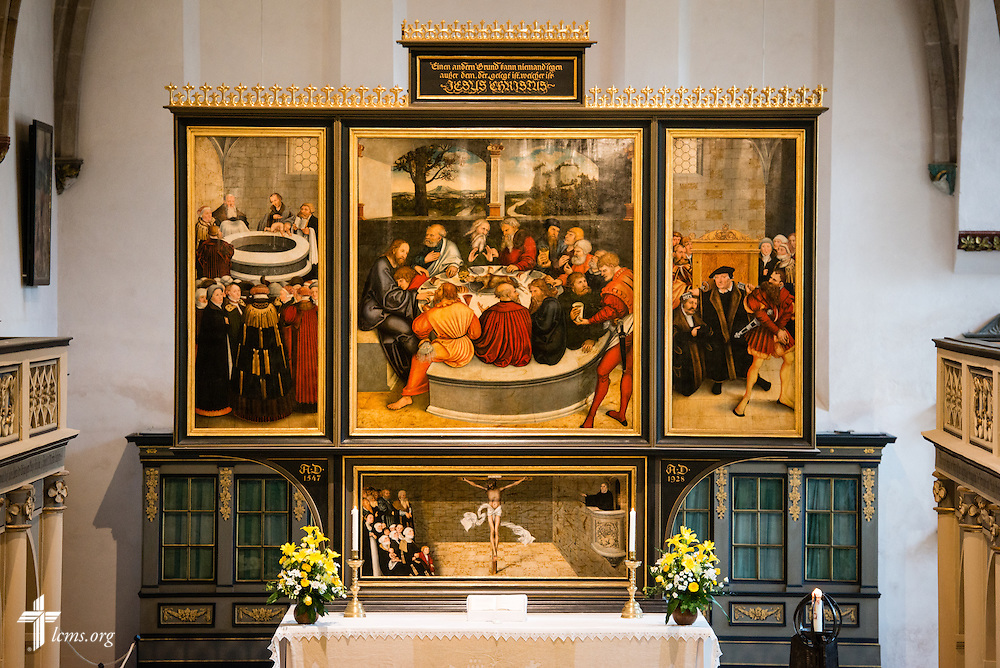 Photographs from the Town and Parish Church of St. Mary's on Tuesday, May 5, 2015, in Wittenberg, Germany. LCMS Communications/Erik M. Lunsford