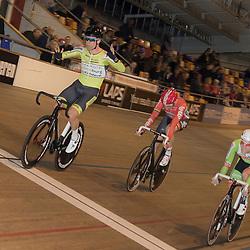 20-12-2015: Wielrennen: NK Baan: Alkmaar<br />ALKMAAR (NED) baanwielrennen  <br />Wim Stroetinga pakt de titel op de puntenkoers