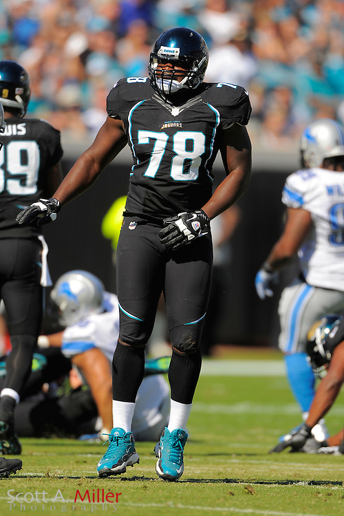 Jacksonville Jaguars tackle Cameron Bradfield (78) during the Detroit Lions 31-14 win over the Jaguars at EverBank Field on November 4, 2012 in Jacksonville, Florida. ..©2012 Scott A. Miller..
