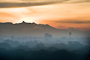 View of Adams Peak from Colombo, Sri Lanka. Early morning.