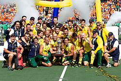 THE HAGUE - Rabobank Hockey World Cup 2014 - 15-06-2014 - MEN - FINAL AUSTRALIA - THE NETHERLANDS 6-1 - Australie is wereldkampioen hockey 2014 bij de mannen.<br /> Copyright: Willem Vernes