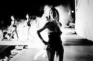 San Sebastiano al Vesuvio, Italia - 28 luglio 2011. Trans sfilano sulla passerella del concorso di bellezza Miss Trans Campania 2011..Ph. Roberto Salomone Ag. Controluce.ITALY - Trasgenders during  Miss Trans Campania 2011 beauty contest in San Sebastiano al Vesuvio on July 28, 2011.