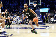 Green Bay guard Amari Davis (1) brings the ball up court during an NCAA college basketball game against Xavier, Wednesday, Dec. 4, 2019, in Cincinnati. Xavier defeated Green Bay 84-71 (Jason Whitman/Image of Sport)