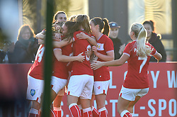 Lucy Graham of Bristol City celebrates her goal - Mandatory by-line: Paul Knight/JMP - 17/11/2018 - FOOTBALL - Stoke Gifford Stadium - Bristol, England - Bristol City Women v Liverpool Women - FA Women's Super League 1