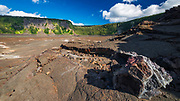 Fissures in the Kilauea Iki caldera, Hawaii Volcanoes National Park, Hawaii USA