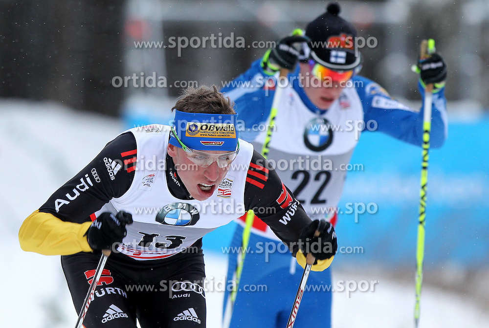 31.12.2011, DKB-Ski-ARENA, Oberhof, GER, Viessmann Tour de Ski 2011, FIS Langlauf Weltcup, Verfolgung Herren, im Bild  Tim Tscharnke (GER) und Matti Heikkinen (FIN) // during men's pursuitof Viessmann Tour de Ski 2011 FIS World Cup Cross Country at DKB-SKI-Arena Oberhof, Germany on 2011/12/31. EXPA Pictures © 2011, PhotoCredit: EXPA/ nph/ Hessland..***** ATTENTION - OUT OF GER, CRO *****