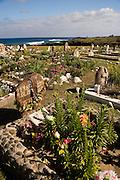 Cemetery in Hanga Roa, Easter Island