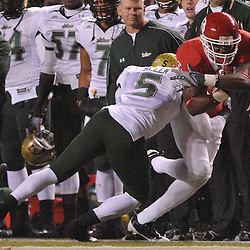 Nov 12, 2009; Piscataway, NJ, USA; Rutgers wide receiver Mohamed Sanu (6) breaks a tackle during first half NCAA Big East football action between Rutgers and South Florida at  Rutgers Stadium.